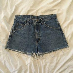 Wrangler Denim Distressed Shorts